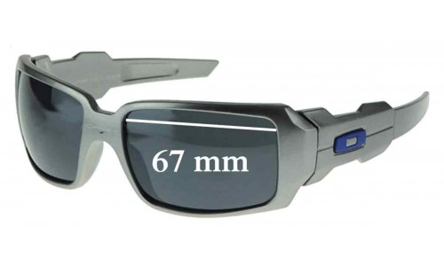 Oakley Oil Rig Replacement Sunglass Lenses - TWO LENSES - Not Goggles- - 67mm wide