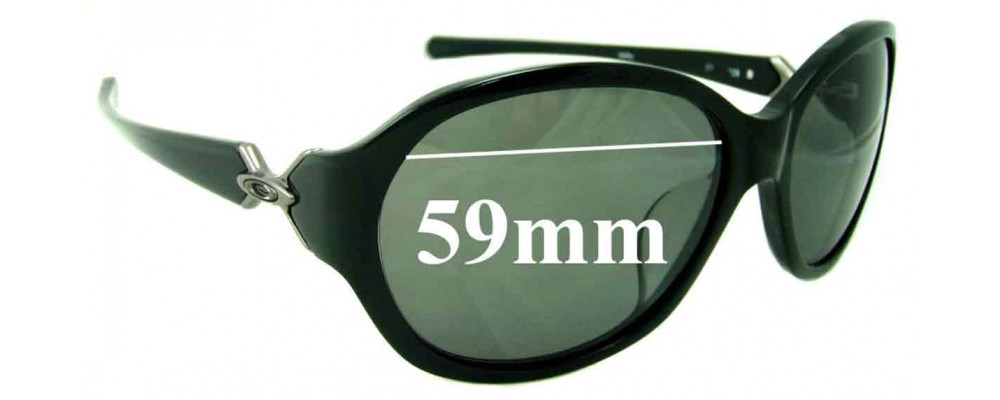 Oakley Abandon Asian Fit Replacement Sunglass Lenses - 59mm wide
