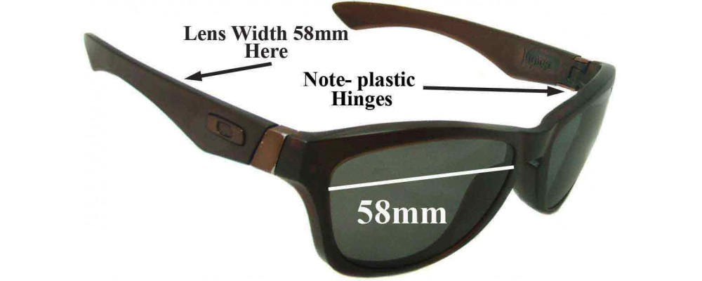 Oakley Jupiter Replacement Sunglass Lenses - 58mm wide *Please Measure As There are 2 Sizes*