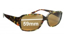 Oroton Catania New Sunglass Lenses - 56mm Wide
