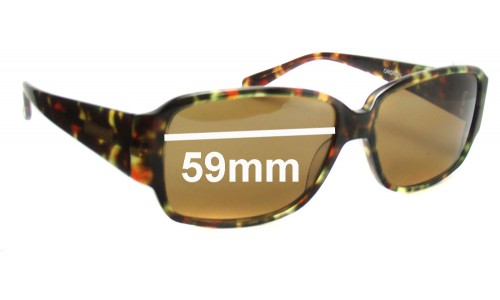 Oroton Catania Replacement Sunglass Lenses - 56mm Wide
