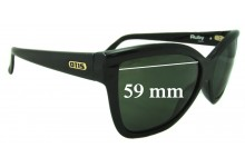 Otis Ruby Replacement Sunglass Lenses - 59mm wide