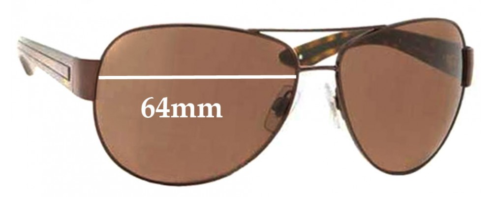 SFX Replacement Sunglass Lenses fits Polo 3032 59mm Wide