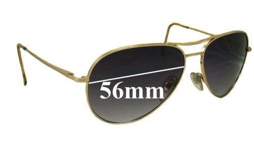 Persol 2238S Replacement Sunglass Lenses - 56mm Wide