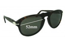 Persol 649 Replacement Sunglass Lenses - 52mm wide