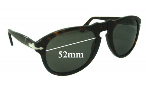 Persol 649 New Sunglass Lenses - 52mm wide