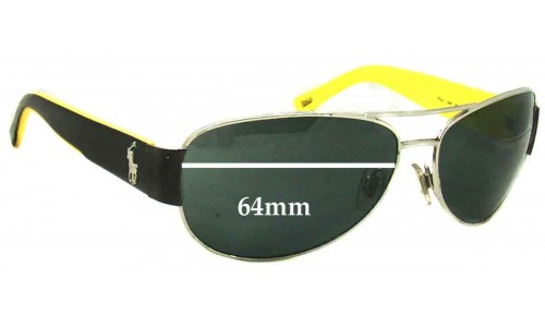 Polo 3049 Replacement Sunglass Lenses - 64mm Wide