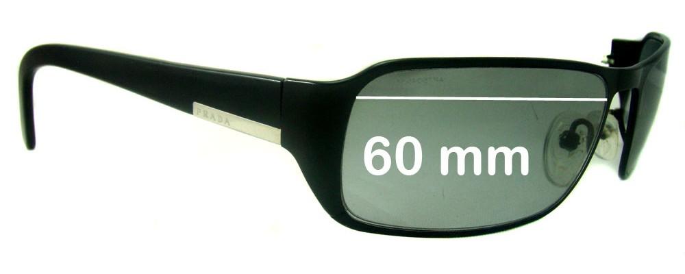 Prada SPR52FS (PR52FS) Replacement Sunglass Lenses - 60mm wide lens