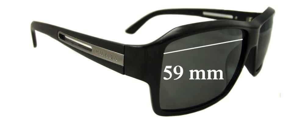 Prada SPR 09I Replacement Sunglass Lenses - 59mm Wide