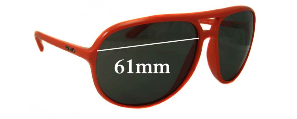 Prada SPR09M Replacement Sunglass Lenses - 61mm Wide