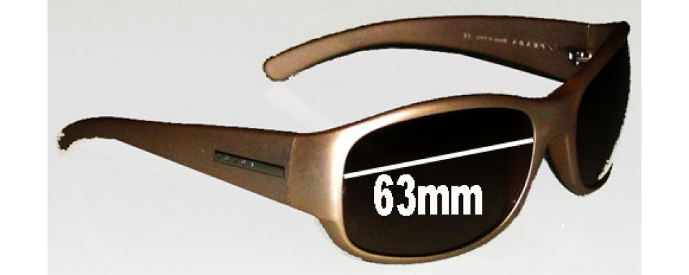 Prada SPR12F Replacement Sunglass Lenses - 63mm lens