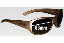 Prada SPR12F Replacement Sunglass Lenses - 63mm lens