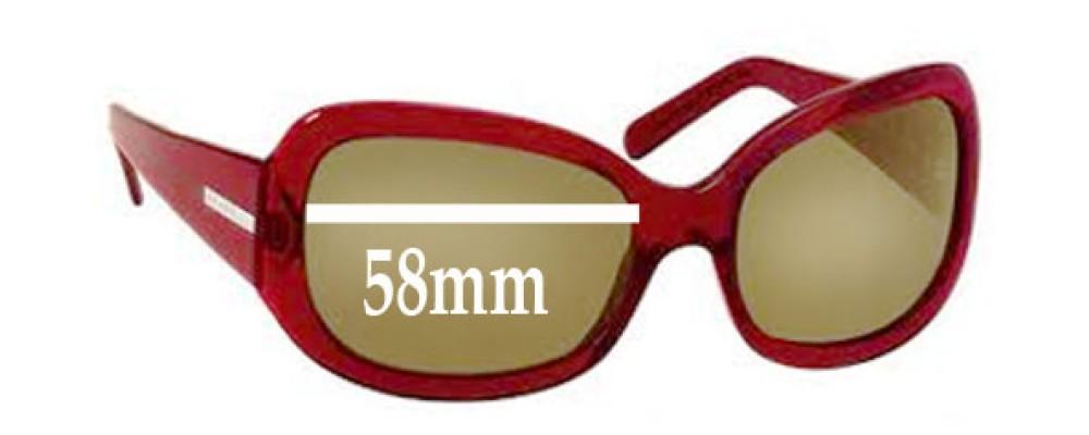 Prada SPR13F Replacement Sunglass Lenses - 58mm wide lens