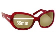Prada SPR13F Replacement Sunglass Lenses - 58mm wide lens