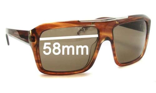Prada SPR13L Replacement Sunglass Lenses - 58mm wide lens