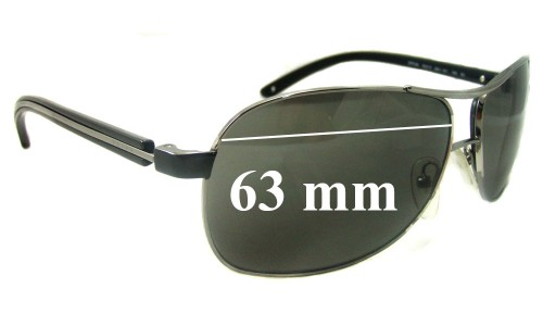 Sunglass Fix Replacement Lenses for Prada SPR59L - 63mm Wide