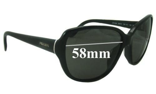 Prada SPR05M Replacement Sunglass Lenses - 58mm Wide