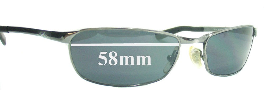 Ray Ban RB3190 Replacement Sunglass Lenses - 58mm across