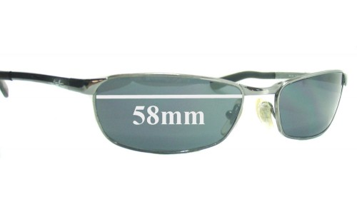 Sunglass Fix Replacement Lenses for Ray Ban RB3190 - 58mm across
