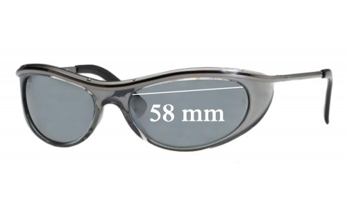 Ray Ban OLYMPIA EXTREME RB4031 Replacement Sunglass Lenses - 58mm Wide