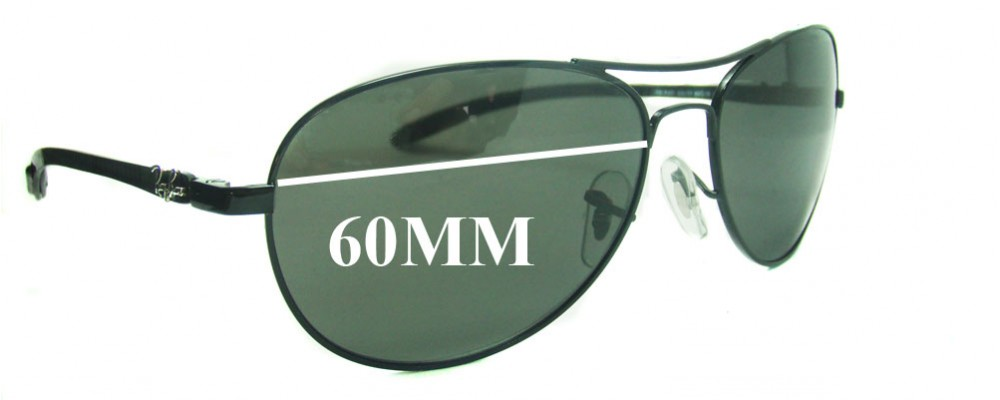 ec1b8f547f Ray Ban RB8301 TECH 60mm Replacement Sunglass Lenses
