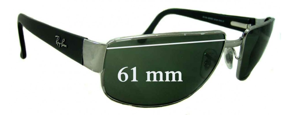 Ray Ban RB3189 Replacement Sunglass Lenses - 61mm wide