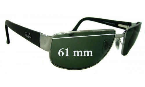 Ray Ban RB3189 Sunglass Replacement Lenses - 61mm wide
