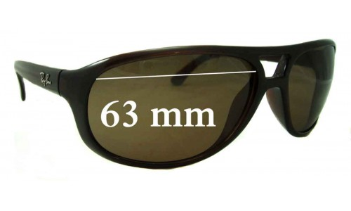 Ray Ban RB4124 Replacement Sunglass Lenses - 63mm wide
