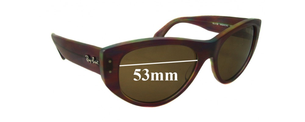 Ray Ban Vagabond RB4152 Replacement Sunglass Lenses - 53mm wide