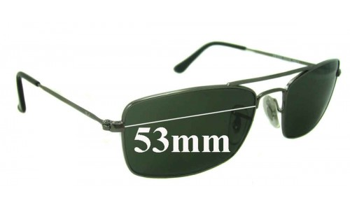 Ray Ban Replacement Sunglass Lenses RB3309 53mm