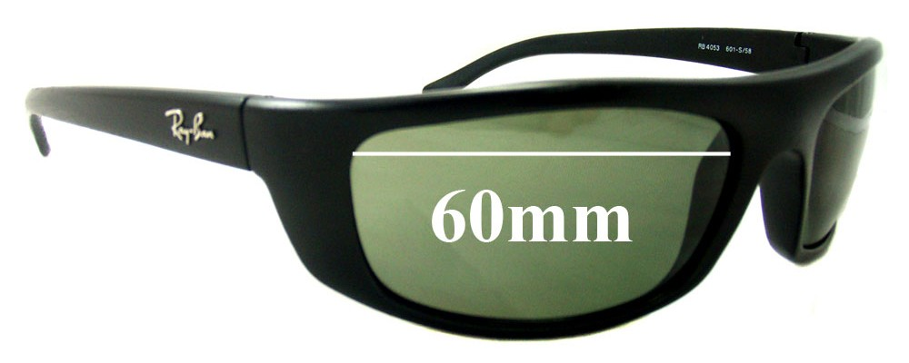 985363bcb6c Ray Ban RB4053 Predator Replacement Sunglass Lenses - 60mm Wide