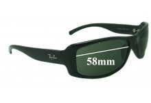Ray Ban RB4088 Replacement Sunglass Lenses - 58mm Wide