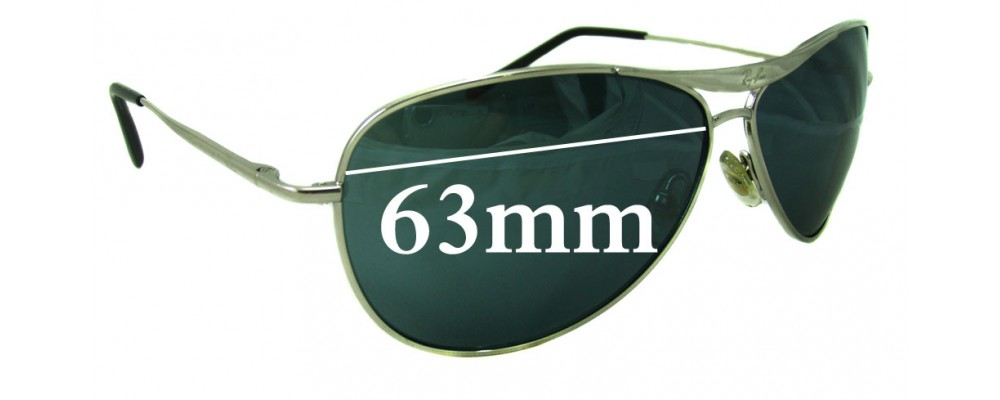 Ray Ban RB8015 Replacement Sunglass Lenses  - 63mm wide