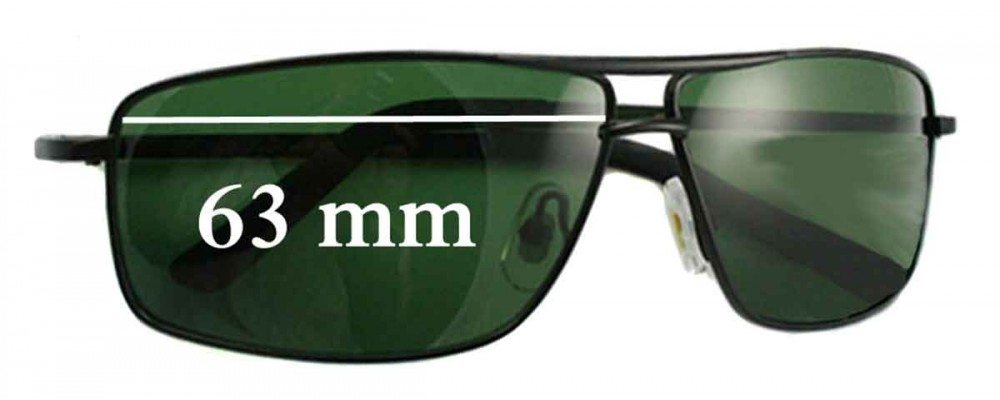 Ray Ban RB9102 Replacement Sunglass Lenses - 63mm wide