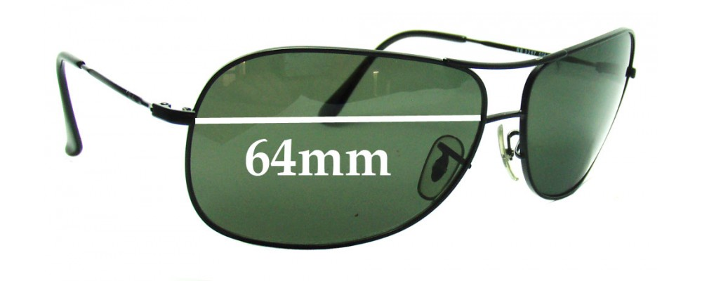 de9ef49539 Ray Ban RB3267 Replacement Sunglass Lenses - 64mm wide