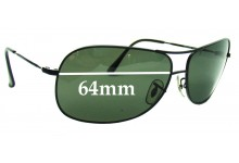 681a3320440 Sunglass Fix Replacement Lenses for Ray Ban RB3267 - 64mm wide