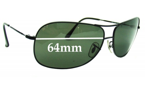 Ray Ban RB3267 Replacement Sunglass Lenses - 64mm wide