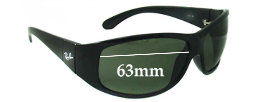 Ray Ban RB4110 Replacement Sunglass Lenses - 63mm Wide