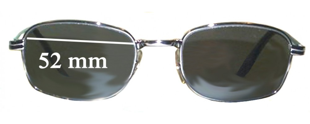Sunglass Fix Replacement Lenses for Ray Ban W2320 Bausch Lomb  - 52mm wide