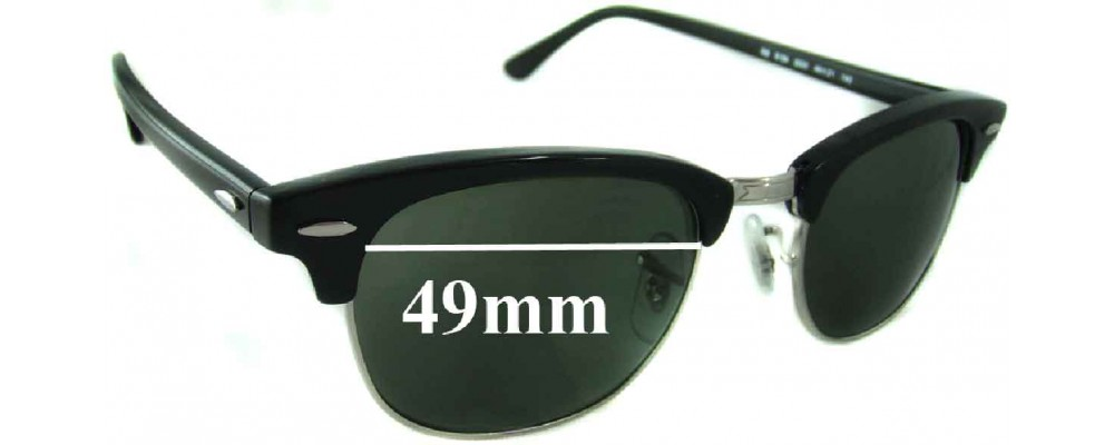 2a4f3365ab9 Ray Ban Clubmaster Lense Sizes