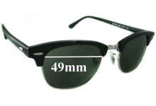 Ray Ban Clubmaster RB5154 Replacement Sunglass Lenses - 49mm wide