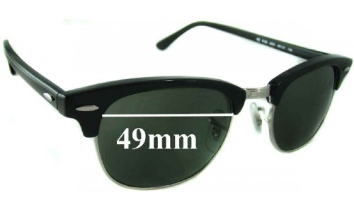 Sunglass Fix Replacement Lenses for Ray Ban Clubmaster RB5154 - 49mm wide x 37.5mm high * Please measure as there are multiple sizes *