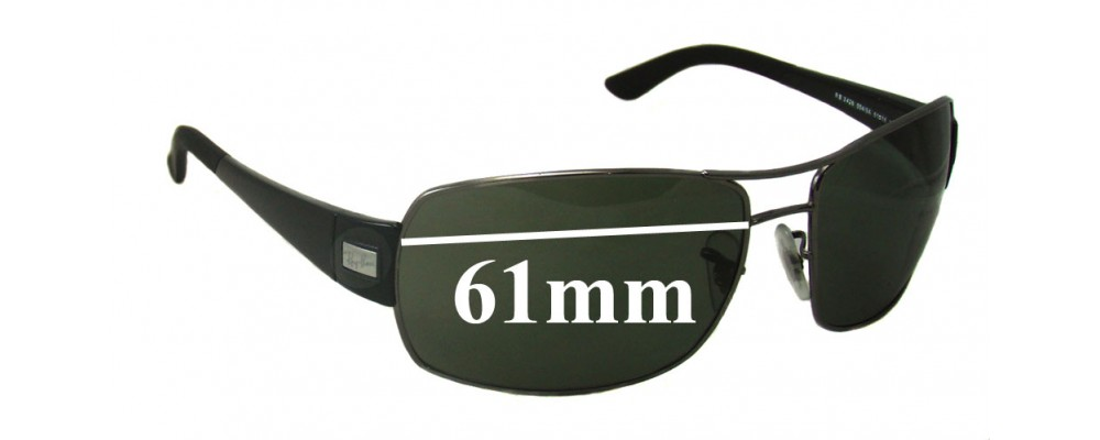Ray Ban RB3426 Replacement Sunglass Lenses - 61mm Wide