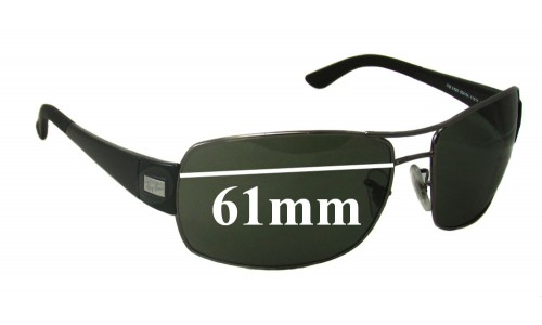 Sunglass Fix Replacement Lenses for Ray Ban RB3426 - 61mm Wide