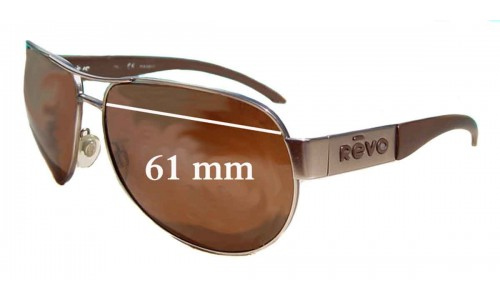 Revo 3072 New Sunglass Lenses - 61mm