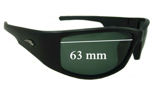 Sunglass Fix Replacement Lenses for Ryders Unknown - 63mm wide