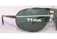 Salvatore Ferragamo 1124 Replacement Sunglass Lenses - 71mm Lenses