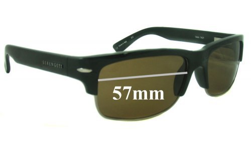 Serengeti 7407 Replacement Sunglass Lenses - 57mm wide