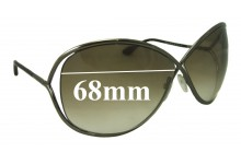 Tom Ford Miranda TF130 Replacement Sunglass Lenses - 68mm Wide