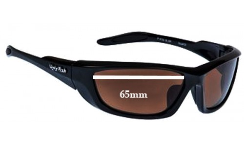 Ugly Fish Model P6733 Replacement Sunglass Lenses - 65mm Wide
